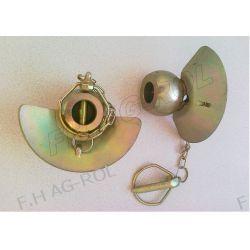 Kula z kołnierzem i zawleczką 64x28x12 (zamiennik Walterscheid) Myjki ciśnieniowe