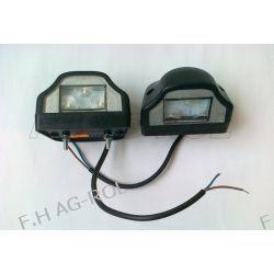 2 x Lampa oświetlenia tablicy rejestracyjnej ,czarna,diodowa 12V/24V CENA ZA 2SZT=1KPL Lampki tablicy rejestracyjnej