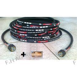Wąż przewód 30 mert. DN08 400BAR,do myjki-KARCHER ,Przedłużka + nypel do połączenia węży