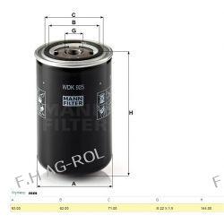 Filtr paliwa MANN-WDK 925,zastosowanie :DAF-95XF,85CF,75CF DAF nr:1345335