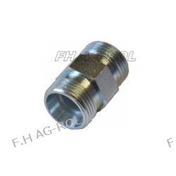 Złączka hydrauliczna nypel, gwinty: M22x1,5 / M22x1,5