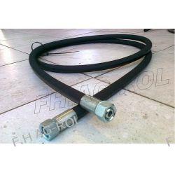 PRZEWÓD HYDRAULICZNY-1600 mm,2 x nakrętka-gwint:1/2,klucz 27mm,TYP WĘŻA EN 853-2SN,275BAR