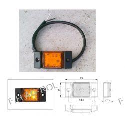 Lampa obrysowa diodowa led 12/24V,  pomarańczowa Lampki obrysowe