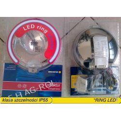 Reflektor drogowy halogen dalekosiężny - chromowany, ze światłem pozycyjnym w światłowodzie typu HOS2 12V lub 24V Myjki ciśnieniowe