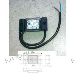 Lampa obrysowa diodowa led 12/24V, biała Lampki obrysowe