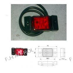 Lampa obrysowa diodowa led 12/24V, czerwona Lampki obrysowe