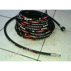 Wąż przewód 18-metrów do myjni,myjki KARCHER ,400 BAR, TEMP: DO 155° ,DN08 , Części do maszyn rolniczych