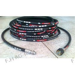 Wąż przewód 40-metrów do myjni,myjki KARCHER ,400 BAR, TEMP: DO 155° ,DN08 ,2SN-2 x oplot metalowy Myjki ciśnieniowe