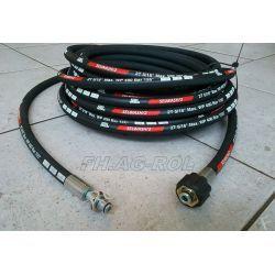 Wąż przewód 8-metrów do myjni,myjki KARCHER ,400 BAR, TEMP: DO 155° ,DN08 ,2SN-2 x oplot metalowy,z łożyskiem Myjki i odkurzacze