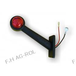 Lampa biało-czerwona, przednio-tylna,skośna dŁuga 12v/24  HOMOLOGACJA:E20