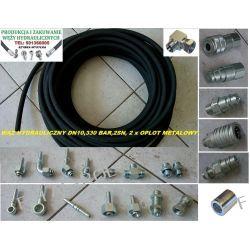 Wąż przewód hydrauliczny,DN10, 330 BAR,2SN-2 x oplot metalowy,cena za 1 metr bieżący