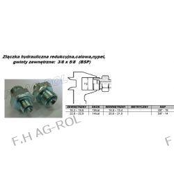 Złączka hydrauliczna redukcyjna,calowa,nypel, gwinty: 3/8 x 5/8 (bsp)