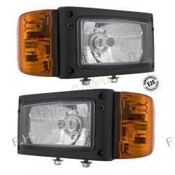 Reflektory przednie H4 ze zlączem AMP cena za 2szt. zastosowanie:koparko-ładowarki,maszyny drogowe,FIRMY-WESEM Myjki ciśnieniowe