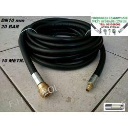 Wąż przewód gumowy do kompresora,10 metrów. 20-BAR. DN10, zakuty