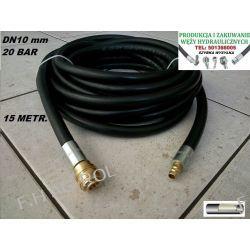Wąż przewód gumowy do kompresora-sprężarki,15 metrów. 20-BAR. DN10, zakuty