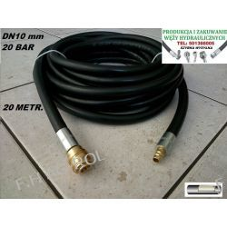 Wąż przewód gumowy do kompresora-sprężarki,20 metrów. 20-BAR. DN10, zakuty