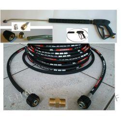 Przewód wąż Karcher HD HDS przedłużka 250 bar 10metr+pistolet+lanca+dysza Pozostałe