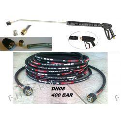 Wąż przewód 400 BAR 30metr+pistolet+lanca+dysza do Karcher HD HDS