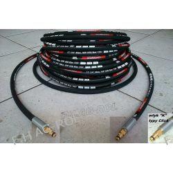 Wąż przewód do myjki KARCHER 12 metrów,2 x wtyk typu CLICK-CLICK ,250 BAR, TEMP: DO 155° ,DN06 , oplot metalowy