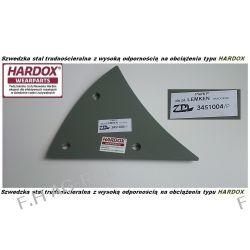 Pierś LEMKEN prawa, odpowiednik  Nr-LEMKEN: 3451004,stal typu HARDOX Pozostałe