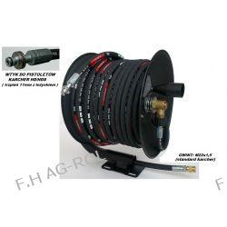Wąż przewód 40-metrów, 400 BAR,DN08+ bęben zwijak do KARCHER HD/HDS,wtyk-trzpień 11mm z łożyskiem Pozostałe