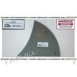 Pierś LEMKEN lewa, odpowiednik  Nr-LEMKEN: 3451003,stal typu HARDOX500