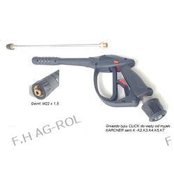 Pistolet + Lanca + dysza do myjek KARCHER serii K2..., K3..., K4..., K5..., K6..., K7 z gniazdem typy click Narzędzia i sprzęt warsztatowy
