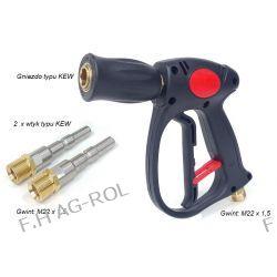 Pistolet do myjek KARCHER HD/HDS + komplet szybkozłączy typu KEW , gniazdo , 2 x wtyk gwint M22 x1,5 Narzędzia