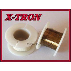 [X-TRON]Drut Molibdenowy 0.1mm Pozłacany 50m