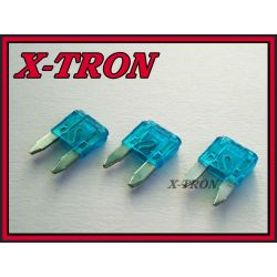 [X-TRON]Bezpiecznik samochodowy mini 15A (5szt.)