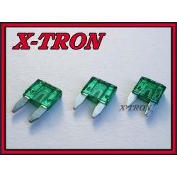 [X-TRON]Bezpiecznik samochodowy mini 30A (5szt.)