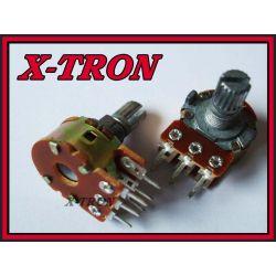 [X-TRON]Potencjometr obrotowy log. A 2 x 1 K Ohm