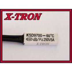 [X-TRON]Termostat Bimetaliczny NO 5A 60C KSD9700