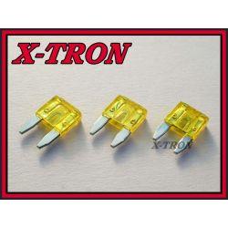 [X-TRON]Bezpiecznik samochodowy mini 20A (5szt.)