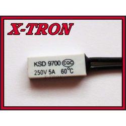 [X-TRON]Termostat Bimetaliczny NC 5A 60C KSD9700