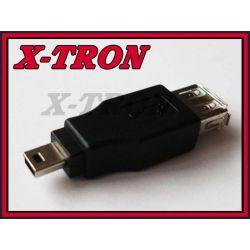[X-TRON]Adapter gniazdo USB A - wtyk mini USB 5P