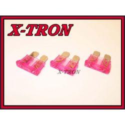 [X-TRON]Bezpiecznik Samochodowy 3A  10szt.