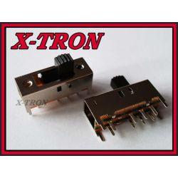 [X-TRON]Przełącznik suwakowy 3 pozycje 9x25x10mm