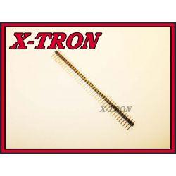 [X-TRON]Wtyk Goldpin 1X40 Prosty do druku 10szt