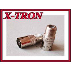 [X-TRON]Przejściówka Gniazdo F - Gniazdo Antenowe