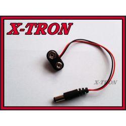 [X-TRON]Adapter Wtyk DC 5.5 2.1  wtyk 6F22 9V