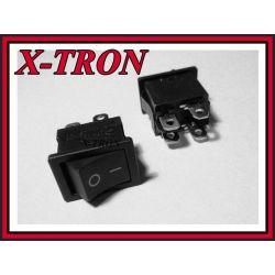 [X-TRON]Przełącznik MRS 6A podwójny ON-OFF czarny