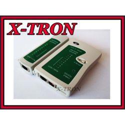 [X-TRON]Tester sieci LAN kable RJ-45 / RJ-11