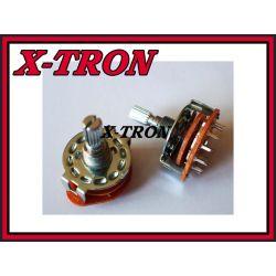 [X-TRON]Przełącznik obrotowy 4 pozycje 3obwody PCB