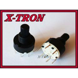 [X-TRON]Przełącznik obrotowy 2 pozycje 2obwody PCB