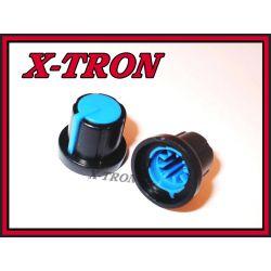 [X-TRON]Gałka potencjometru czarna17.5mm niebieska