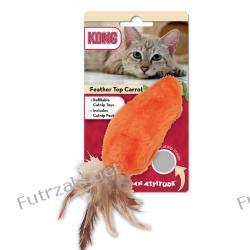 Kong Catnip Feather Top Carrot