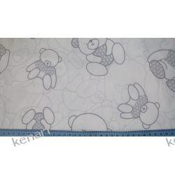 Tkanina bawełniana szary miś