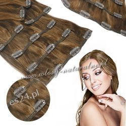 Doczepiane włosy Naturalne Clip in Premium 53cm