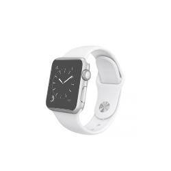 Apple Watch Sport 38 mm z aluminium w kolorze srebrnym z paskiem w kolorze białym